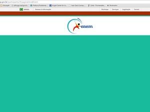 Na manhã desta quarta-feira, a página do Enem voltou a apresentar lentidão (Foto: Reprodução/Inep)