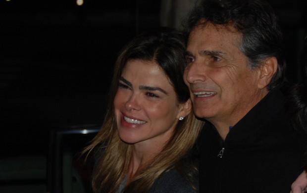 O tricampeão de Fórmula 1 Nelson Piquet e a esposa, companheira nas Mil Milhas Históricas (Foto: Alexander Grünwald / GLOBOESPORTE.COM)