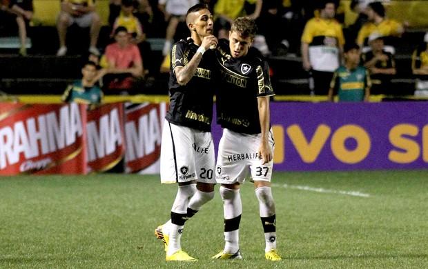 Rafael Marques e Octavio comemoração Botafogo (Foto: Fernando Ribeiro / Futura Press)