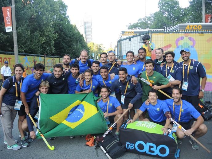 Hóquei sobre grama Pan Brasil (Foto: GloboEsporte.com)