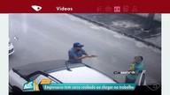Empresário tem carro roubado ao chegar ao trabalho