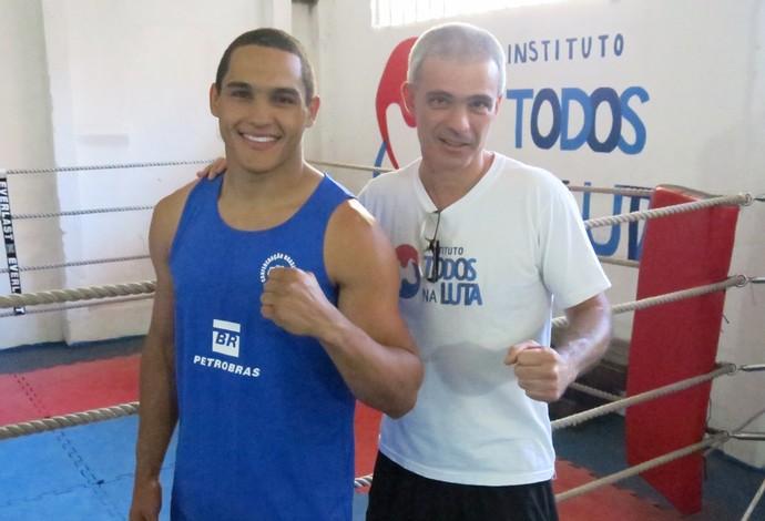 Raff Giglio Michel Borges Instituto Todos na Luta boxe (Foto: Flávio Dilascio)