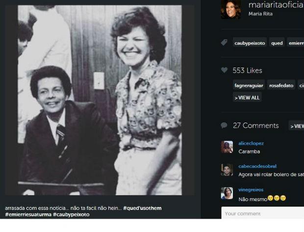 Maria Rita lamenta morte de Cauby Peixoto (Foto: Reprodução/Instagram)