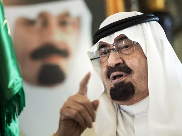O rei Abdullah, da Arábia Saudita, em foto de 27 de junho de 2014 (Foto: AP Photo/Brendan Smialowski, Pool, File)