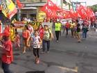 Fortaleza tem manifestação contra reforma da Previdência e terceirização