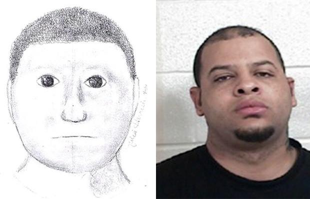 Glenn Edwin Rundles foi preso após divulgação de retrato falado 'bizarro' (Foto: Divulgação/Lamar County Sheriff's Department)