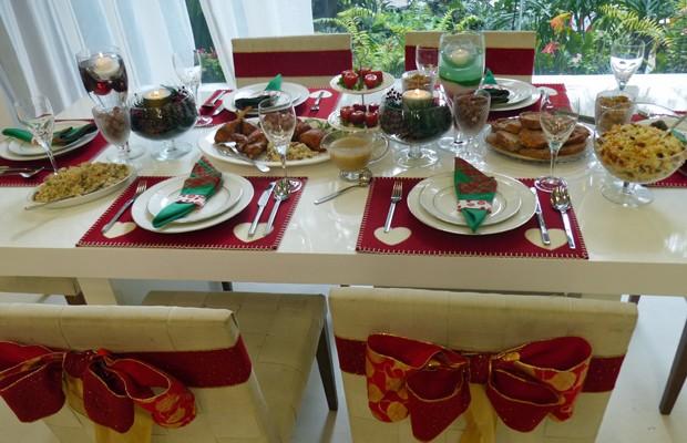 Mesa de Natal com dicas do Mais Você (Foto: Priscilla Massena/Gshow)