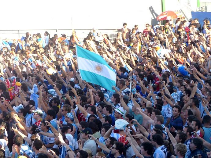 Argentinos na Fan Fest do Rio de Janeiro (Foto: Felipe Schmidt)