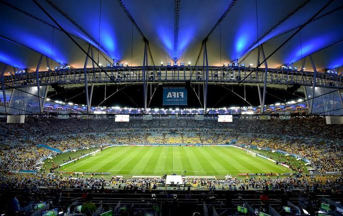 Maracanã torcida jogo Argentina x Bósnia Central da Copa (Foto: AFP)