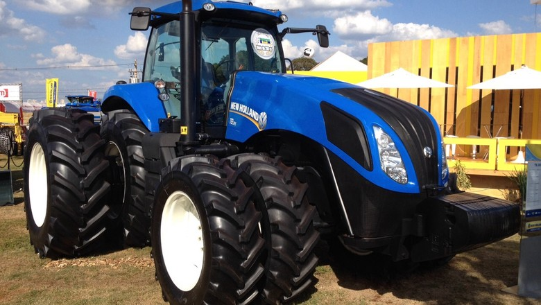 máquinas-agrícolas-agrishow-new-holland (Foto: Editora Globo/ Valter Silva)