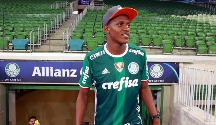 Yerry Mina, reforço do Palmeiras (Foto: TV Palmeiras / divulgação)