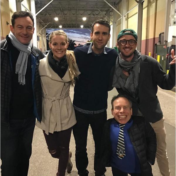Jason Isaacs e seus colegas de elenco nos filmes da saga 'Harry Potter' (Foto: Instagram)