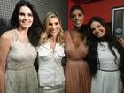 Encontro de divas: estrelas da TV distribuem charme no Domingão
