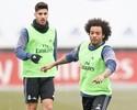Marcelo e Modric voltam a treinar com o grupo, e Bale reaparece no campo