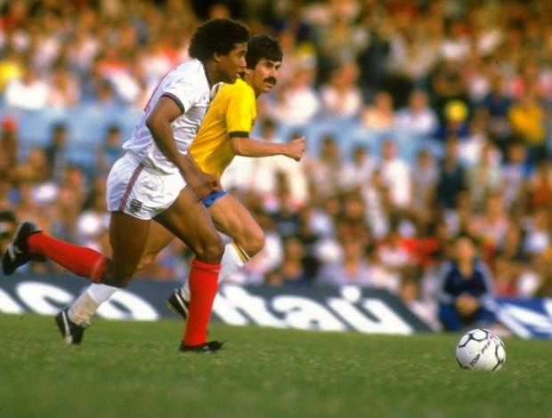 john barnes zenon brasil x inglaterra 1984 (Foto: Getty Images)