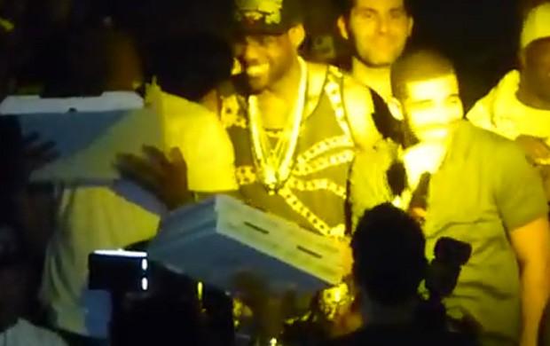 Lebron James palco miami heats nba (Foto: Reprodução)