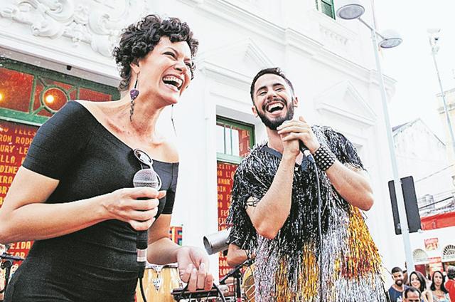 Hermila Guedes aproveitou uma folga das gravações da série 'Assédio' e foi a Recife participar do projeto Frevália (Foto: Lana Pinho)