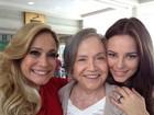 Susana Vieira posa com Nathalia Timberg e Paolla Oliveira