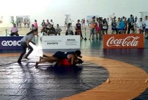 Luta olímpica nos Jogos Escolares da Juventude, em João Pessoa (Foto: Divulgação/Fundesporte)
