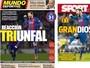 TRIunfal e granDIOSos: catalães exaltam Messi e fim do jejum coletivo