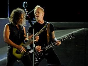 James Hetfield encerrou show dizendo que o 'Metallica ama o Rio de Janeiro' (Foto: Flávio Moraes/G1)