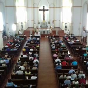Missa lembra dois anos da morte de Bernardo em Três Passos (Maurício Rebellatto/RBS TV)