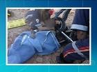 Vítima de assalto arrasta moto acorrentada ao pescoço e pede ajuda