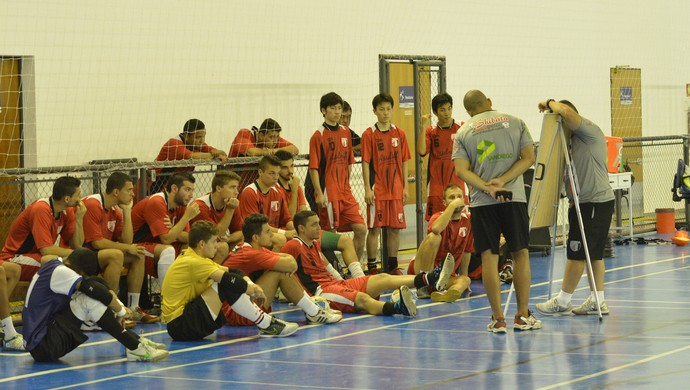 Treino Grêmio Mogiano Futsal (Foto: Cairo Barros)