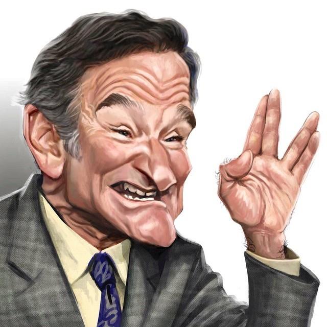 Robin Williams - caricaturas também foram postadas (Foto: Reprodução Instagram)