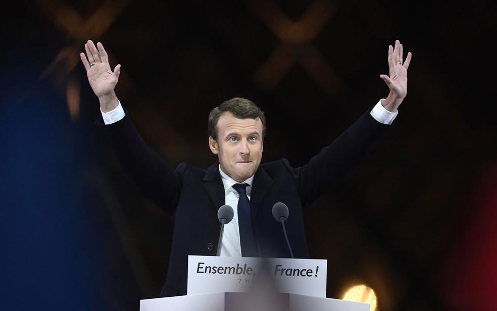 Macron acaba de se eleger, mas, em breve, terá outra eleição pela frente: a parlamentar (Foto: Eric Feferberg/AFP)