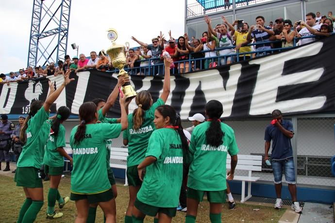 Iranduba tetracampeão amazonense de futebol feminino (Foto: Adeilson Albuquerque)