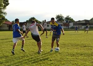Andirá realiza primeiro treino tático e faz amistoso com time do Adalberto Arragão (Foto: Quésia Melo)