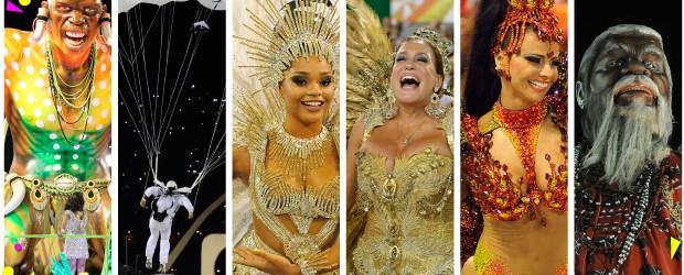 Desfile das melhores do carnaval do Rio tem duelo de gritos de 'é campeã!' (Editoria de Arte/G1)