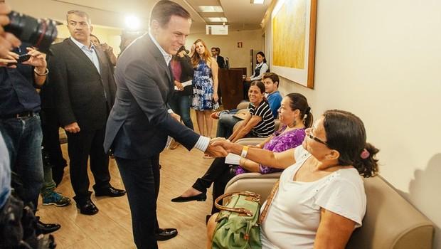 O prefeito João Doria (PSDB) no lançamento do Corujão da Saúde (Foto: Leon Rodrigues/SECOM)