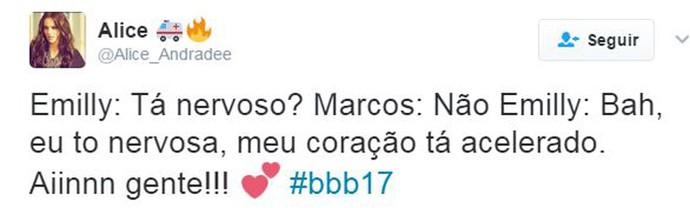 Twitter Emilly e Marcos (Foto: Twitter)