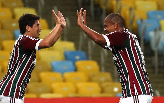 Conca e Walter Fluminense x Friburguense (Foto: Nelson Perez / Fluminense F.C.)