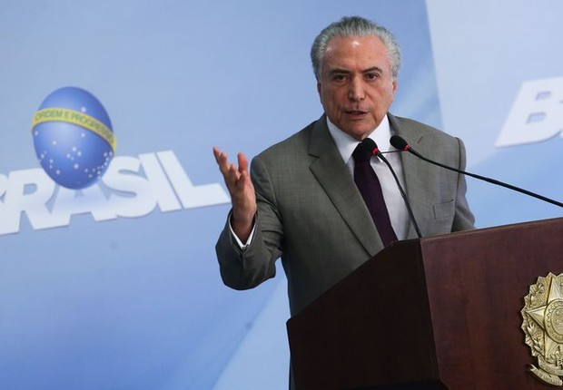 O presidente Michel Temer durante pronunciamento (Foto: Antônio Cruz/Agência Brasil)