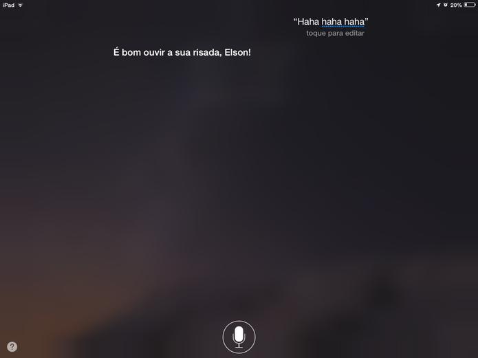 Siri pode contar piadas, histórias e dar respostas inusitadas em Português (Foto: Reprodução/Elson de Souza)