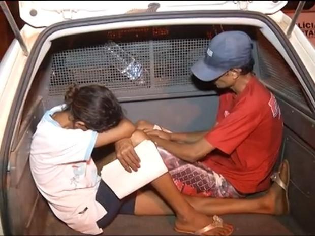 Casal foi prso por tráfico de drogas. (Foto: Reprodução/Inter TV)