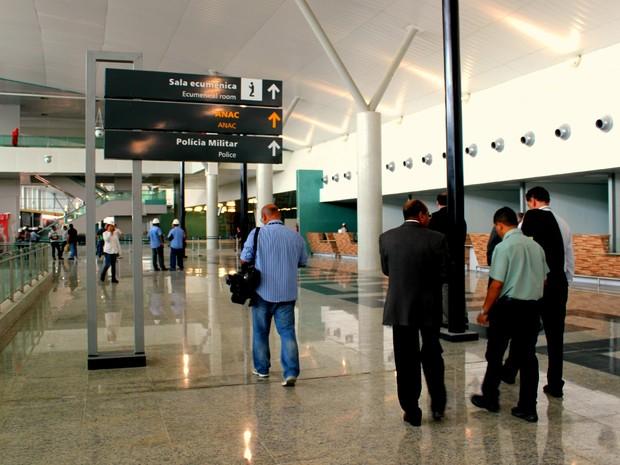 O novo terminal pode receber 6,4 milhões de embarques e desembarques, segundo a Infraero (Foto: Camila Henriques/G1 AM)