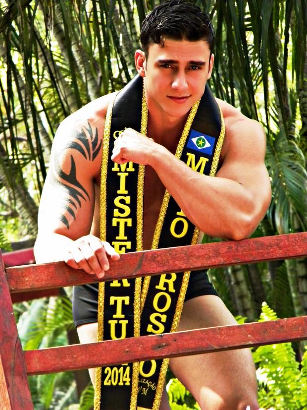 Luiz Umberto, Mister Mato Grosso Tur 2014 (Foto: Divulgação/Mister Brasil Tur)