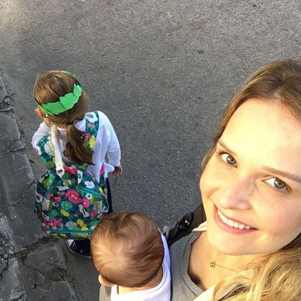 Fernanda Rodrigues com os filhos  (Foto: Reprodução/Instagram)
