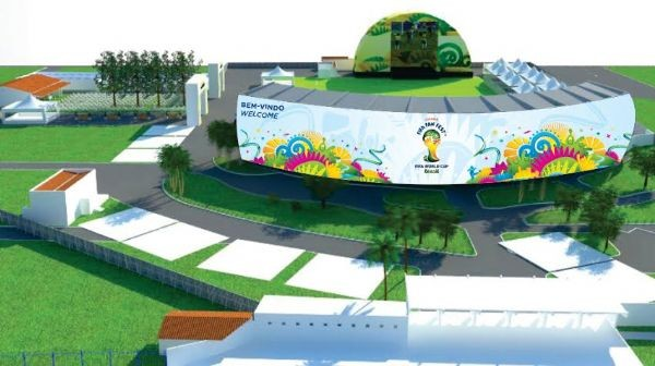 Estrutura do FIFA FAN FEST de Cuiabá (Foto: TVCA)
