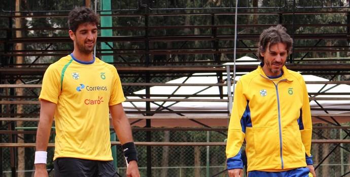 Thomaz Bellucci e João Zwetsch tênis (Foto: Divulgação CBT)