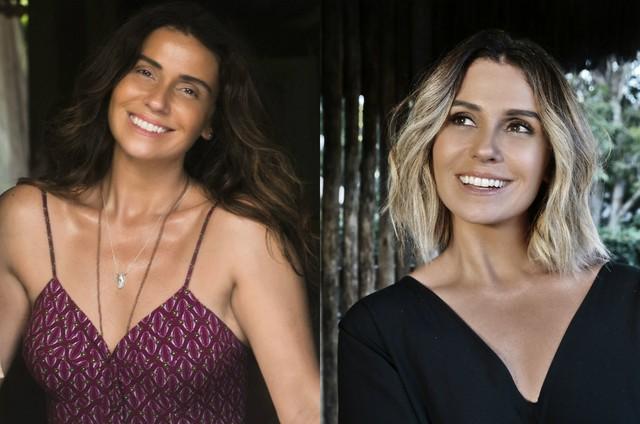 Giovanna Antonelli na primeira fase de 'Segundo Sol' e com novo visual para a segunda fase (Foto: TV Globo)