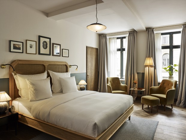 Atmosfera campestre invade o novo hotel Sanders, em Copenhague (Foto: Divulgação)