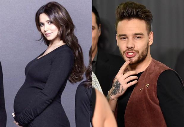 Cheryl Cole espera filho com Liam Payne, da One Direction (Foto: Reprodução e Jason Merritt/Getty Images )