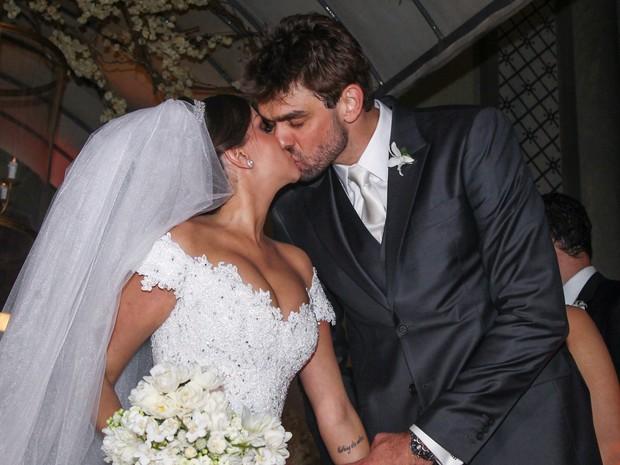 Lucão se casa com Beatriz Casagrande em São Paulo (Foto: Manuela Scarpa/ Foto Rio News)