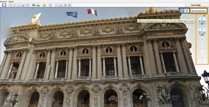 Você pode controlar a navegação no Google Earth (Foto: Reprodução/Barbara Mannara)