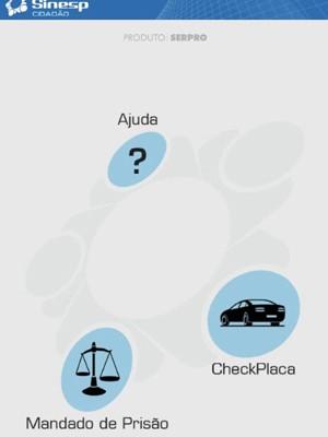 Tela do aplicativo lançado pelo Ministério da Justiça (Foto: Reprodução)